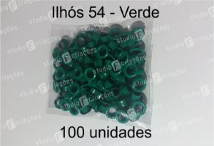 100 Ilhos 54 cor verde