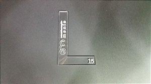 Esquadro em L 15mm - Acrilico