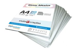 Papel fotográfico A4 glossy 135g - pacote 20 fls