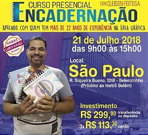 Curso de Encadernação Presencial - São Paulo - 21/07/2018