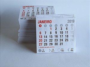 50 Bloco Refil Mini Calendario 2019