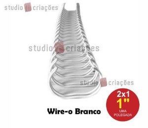 Wire-o 1 polegada - Branco
