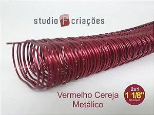 Wire-o 1 1/8 polegada - Vermelho Cereja Metálico