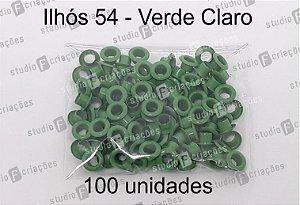 100 Ilhos 54 cor verde claro