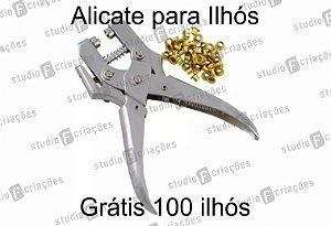 Alicate aplicador de Ilhós - BRINDE 100 Ilhós