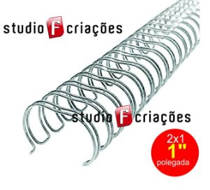 Wire-o 1 polegada - Prata (Silver)
