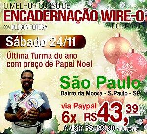 Curso de Encadernação Presencial - São Paulo - 24/11/2018