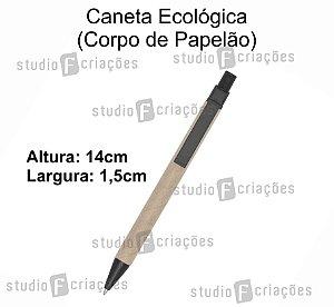 Caneta Ecologica (Papelão) - Preta