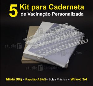 05 Kit Insumos Caderneta 90g (papelao com abas e wire-o 3/4)