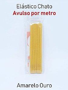Elástico CHATO AMARELO OURO (medida 1 metro)