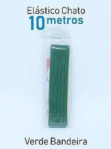 Elástico CHATO VERDE BANDEIRA (medida 10 metro)