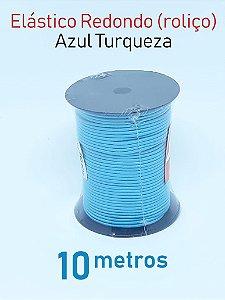 Elástico REDONDO AZUL TURQUESA (medida 10 metros)