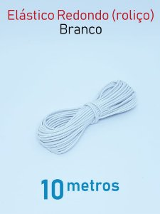 Elástico REDONDO BRANCO (medida 10 metros)