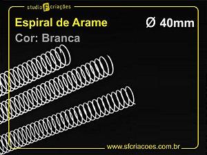 Espiral de Arame 40mm - Branco - 10 unidades