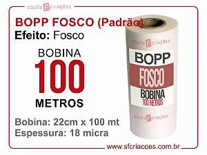 Bobina BOPP Fosco 22cm x 100 metros