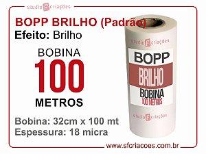Bobina BOPP Brilho 32cm x 100 metros