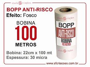 Bobina BOPP ANTI-RISCO 22cm x 100 metros