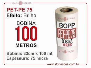 Bobina PET-PE 75 BRILHO 33cm x 100 metros