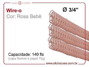 Wire-o 3/4 polegada - Rosa bebe