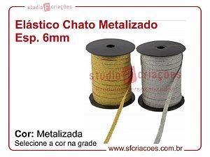 Elástico CHATO METALIZADO  (medida 1 metro)