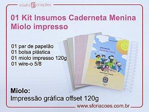 Kit Insumo Caderneta - MIOLO IMPRESSO