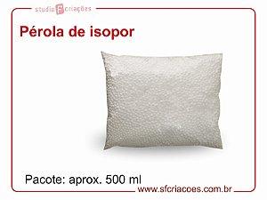 01 pct c/ 500ml de Perola de isopor (para bolinha de natal e artesanatos em geral)