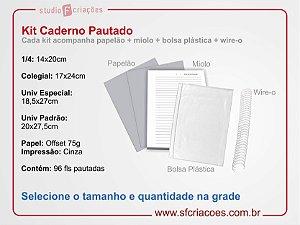 Kit Caderno Pautado 96 fls