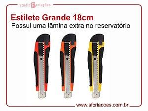 Estilete GRANDE - Lâmina 18cm (contém 01 lâmina extra no reservatório)