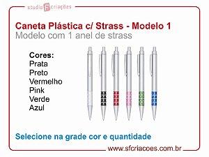 Caneta Plástica STRASS - Modelo 1