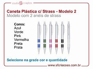 Caneta Plástica STRASS - Modelo 2