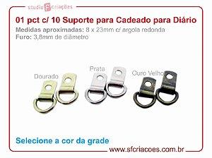 01 pct c/ 10 suporte para fecho de cadeado