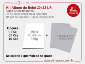 Kit Livro ou Album do Bebe LR - 20x22cm