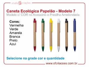 Caneta Ecologica (Papelão) - MODELO 7