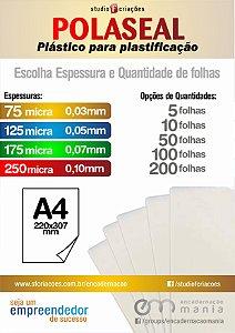 Polaseal - Plastico para Plastificacao - A4 (220 x 307mm)