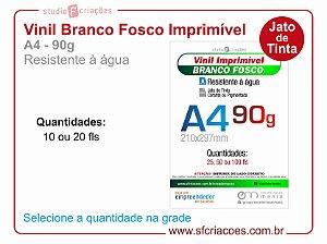 Vinil Imprimível BRANCO FOSCO - A4 -90g (JATO DE TINTA)