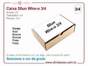 Caixa de Wire-o Passo 2: 1 - 3/4 - Selecione a cor na grade