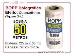 BOPP Holográfico Square (Grid Quadrados)