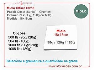 Papel Offset 18x18 (Livro do Bebe / Planner / Agenda / Caderno)