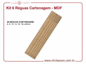 Kit 6 Réguas Cartonagem - MDF