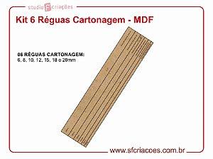Kit 6 Réguas Cartonagem - MDF