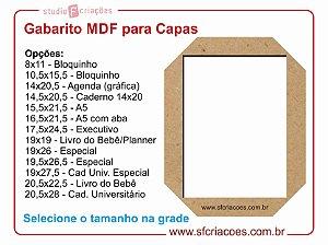 Gabarito MDF para Capas
