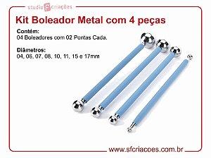 Kit Boleador Metal com 4 peças