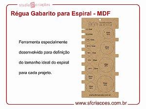 Regua Gabarito de Escala para Espiral - MDF