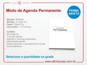 Miolo Agenda Executiva PERMANENTE (somente o miolo)