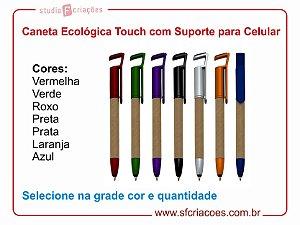 Caneta Ecologica Touch com Suporte para Celular