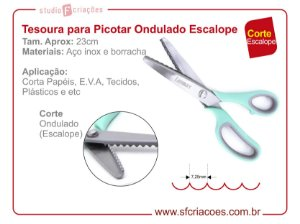 Tesoura para Picotar - Ondulado Escalope - 7,25mm