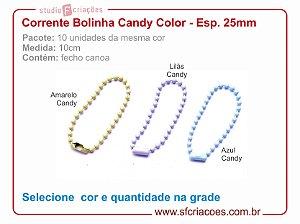 01 pct c/ 10un - Corrente bolinha - Candy Color