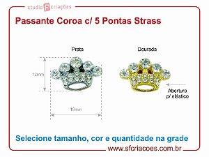 Passante Coroa c/ 5 Pontas Strass
