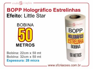 BOPP Holográfico LITTLE STAR (Estrelinhas)