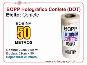 Bobina BOPP Holografico Confete
